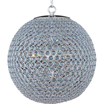 Farley Hall 5-Light Crystal Chandelier Finish: Plated Silver
