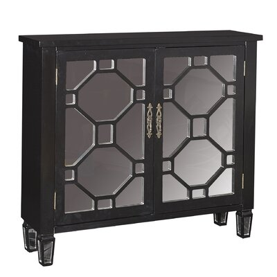 Eccleston 2 Door Cabinet Finish: Black