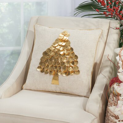 Schwartz Throw Pillow Color: Gold