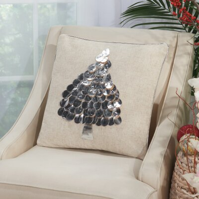 Schwartz Throw Pillow Color: Silver