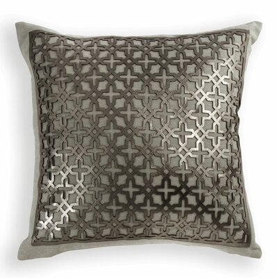 Lubec Leather Throw Pillow