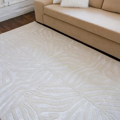 Nevis Hand-Tufted White Area Rug Rug Size: Square 16