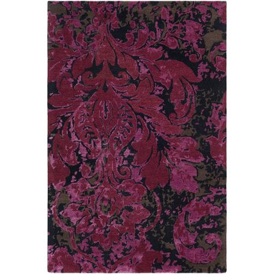 Terry Hand-Tufted Garnet/Burgundy Area Rug Rug Size: Rectangle 8 x 11