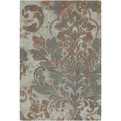 Terry Hand-Tufted Camel/Charcoal Area Rug Rug Size: 33 x 53
