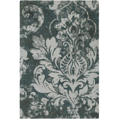 Terry Hand-Tufted Teal/Dark Green Area Rug Rug Size: 5 x 8