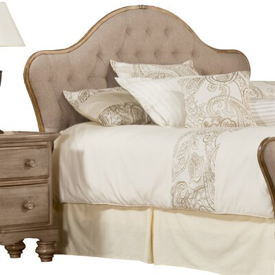 Briony French Country Upholstered Panel Headboard Size: King