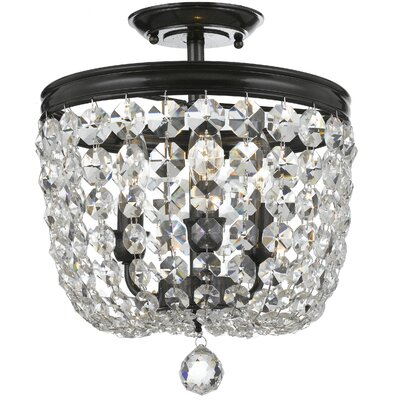 Sargent 3-Light Semi Flush Mount