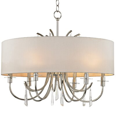 Fayette 6-Light Crystal Drum Chandelier