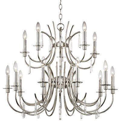 Fayette 15-Light Crystal Candle-Style Chandelier