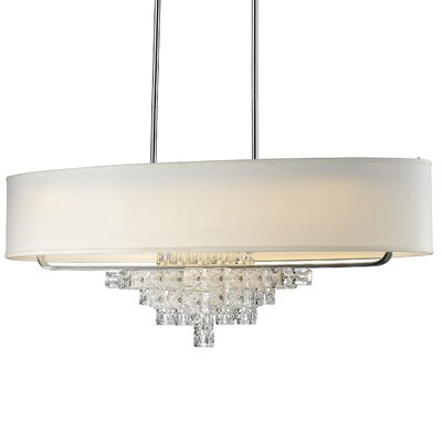 Claridge 7-Light Polished Chrome Kitchen Island Pendant