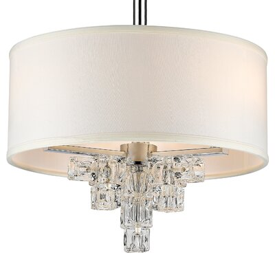 Claridge 3-Light Mini Drum Chandelier
