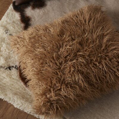 Carolus Knitted Throw Pillow Size: 22 H x 22 W x 4 D, Color: Brown