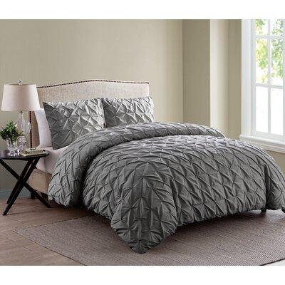 Grange-over-Sands Duvet Set Color: Charcoal, Size: King