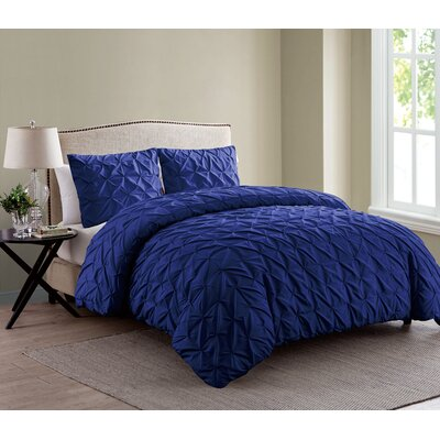 Grange-over-Sands Duvet Set Color: Navy, Size: King