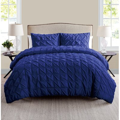 Gilbert Duvet Set Color: Navy, Size: Queen