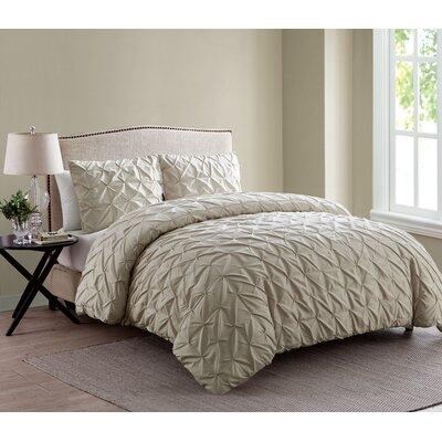 Grange-over-Sands Duvet Set Color: Taupe, Size: Twin/Twin XL