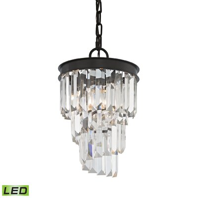 Springfield 1-Light Crystal Pendant Bulb Type: 4.8W LED