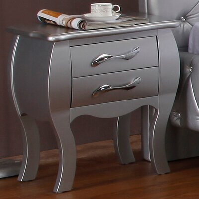 Gisela 2 Drawer Nightstand