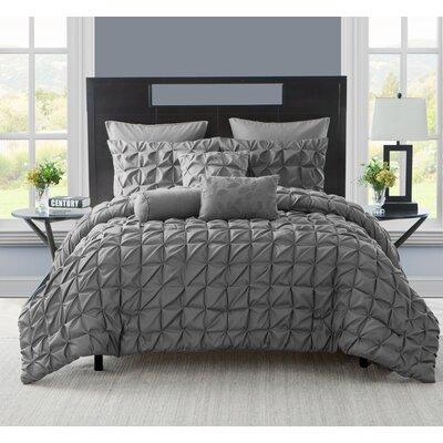 Gilbert Comforter Set Color: Charcoal, Size: King
