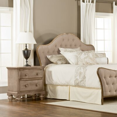 Briony French Country Upholstered Panel Headboard Size: Queen