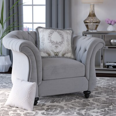 Winsford Premium Arm chair Color: Dolphin Gray
