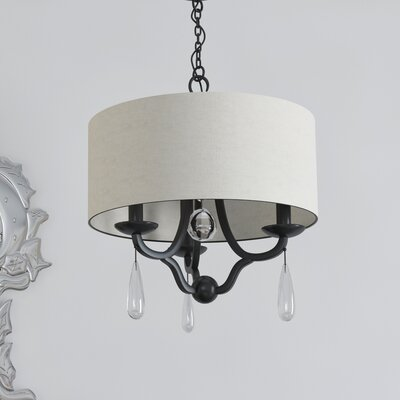 Rochefort 3-Light Drum Chandelier