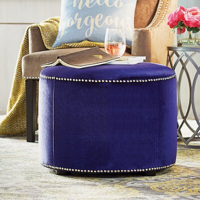 Bladon Fabric Ottoman Color: Royal Blue