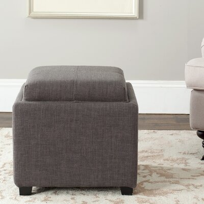 Spacey Single Tray Storage Ottoman Upholstery: Charcoal