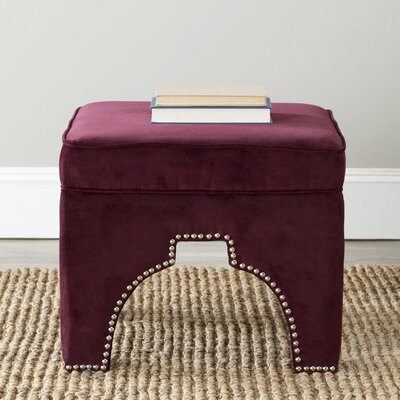 Claribel Square Ottoman Upholstery: Bordeaux