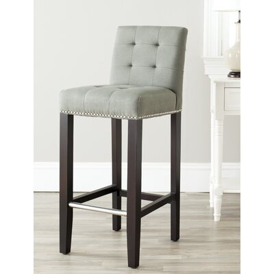 Rhona 30 Linen Bar Stool Upholstery: Sea Mist Linen