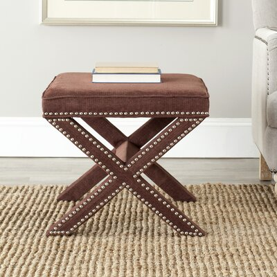 Morrison Wood Ottoman Upholstery: Chinchilla Brown
