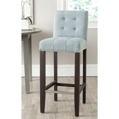 Rhona 30 Linen Bar Stool Upholstery: Sky Blue Linen