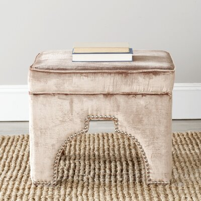 Claribel Square Ottoman Upholstery: Mink Brown