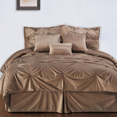 Marcelino Comforter Set Size: King, Color: Camel