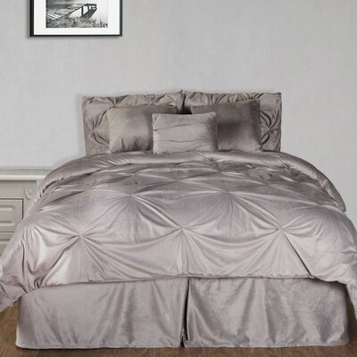Marcelino Comforter Set Color: Silver, Size: Cal King