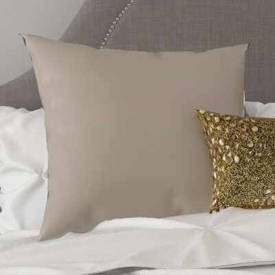 Austen Throw Pillow Size: 22 H x 22 W x 5 D, Color: Light Gray
