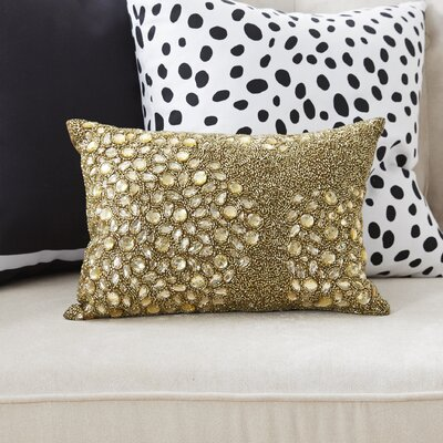 Hertzog Beaded All Over Lumbar Pillow Color: Beige