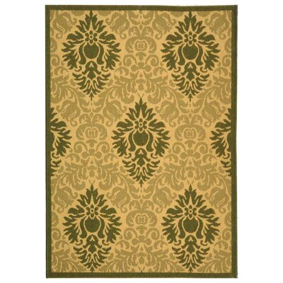 Jarrow Natural/Olive Outdoor Rug Rug Size: Rectangle 67 x 96