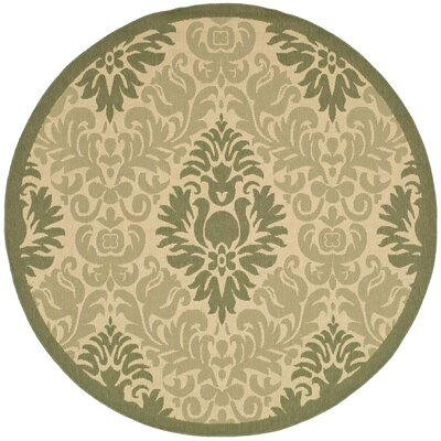 Jarrow Natural/Olive Outdoor Rug Rug Size: Round 67