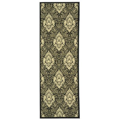 Jarrow Black/Sand Outdoor Rug II Rug Size: Runner 24 x 67