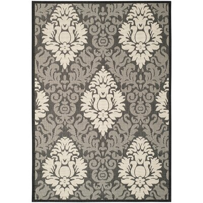 Jarrow Black/Sand Outdoor Rug II Rug Size: Rectangle 53 x 77