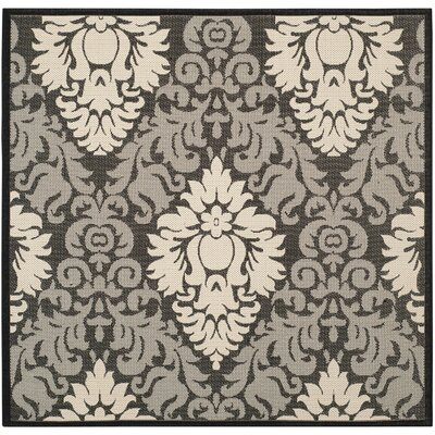 Jarrow Black/Sand Outdoor Rug II Rug Size: Square 710