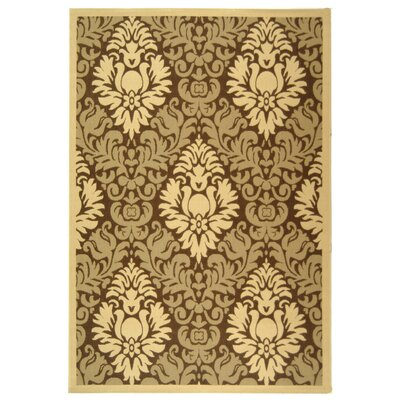 Jarrow Brown/Natural Outdoor Rug Rug Size: Rectangle 53 x 77