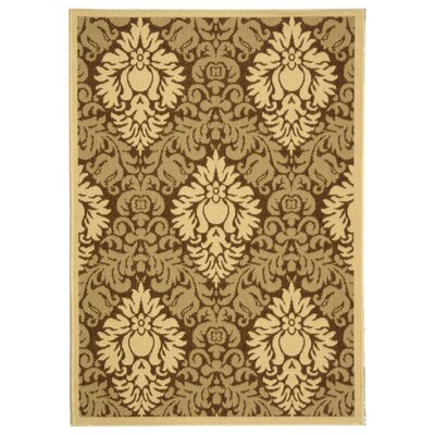 Jarrow Brown/Natural Outdoor Rug Rug Size: Rectangle 67 x 96
