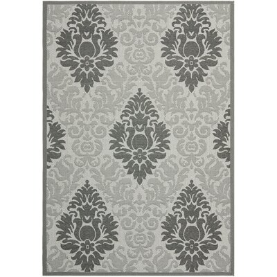Jarrow Light Grey/Anthracite Indoor/Outdoor Rug Rug Size: 53 x 77