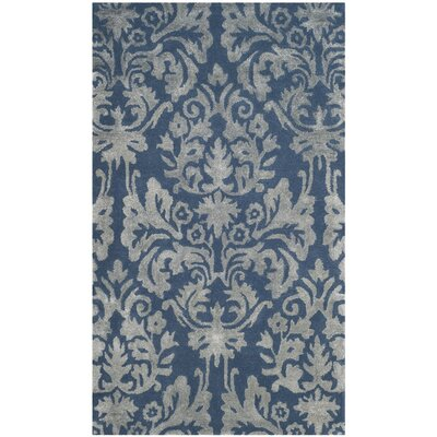 Romford Hand-Tufted Navy/Gray Area Rug Rug Size: 3' x 5'