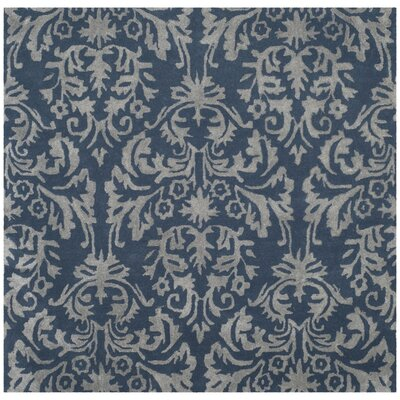 Mcguire Hand-Tufted Navy/Gray Area Rug Rug Size: Square 5