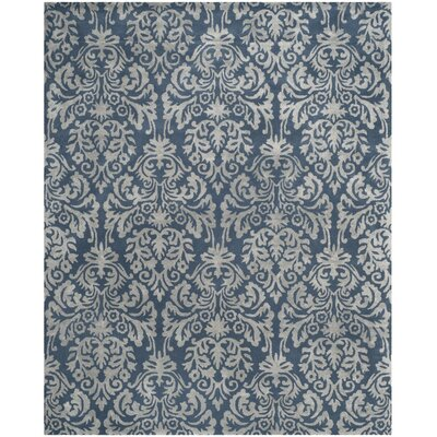 Mcguire Hand-Tufted Navy/Gray Area Rug Rug Size: Rectangle 8 x 10