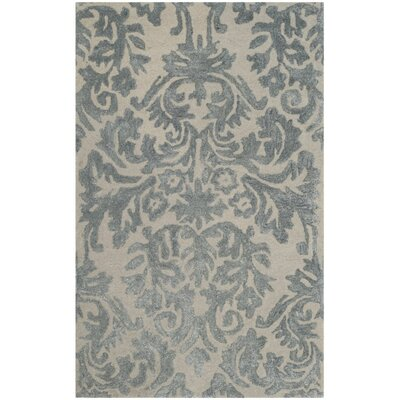 Mcguire Hand-Tufted Ivory/Silver Area Rug Rug Size: Rectangle 26 x 4