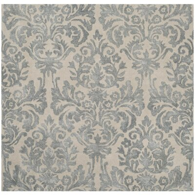 Romford Hand-Tufted Ivory/Silver Area Rug Rug Size: Square 5'